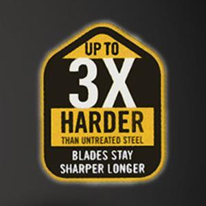 Blades stay sharper longer