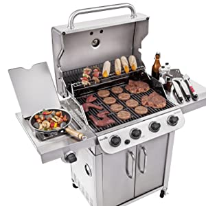 family;size;gas;grill;cook;cookout;picnic;barbecue;bbq;barbeque;side;burner;stainless;steel;grates