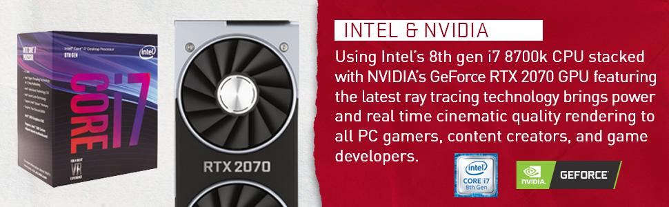 iBUYPOWER Gaming PC Desktop Trace 9220 Liquid Cooled Overclockable i7-8700K, NVIDIA Geforce RTX 2070 8GB, Z370 Motherboard, 16GB RAM, 1TB HDD, 240GB ...