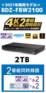 ソニー レコーダー 4K FBW2100
