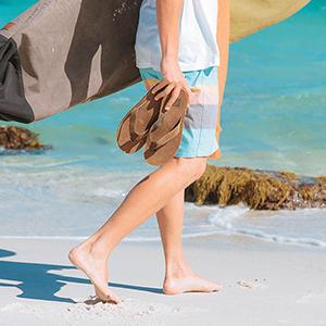 REEF, voyage, sandals, mens, waterproof, leather, beach