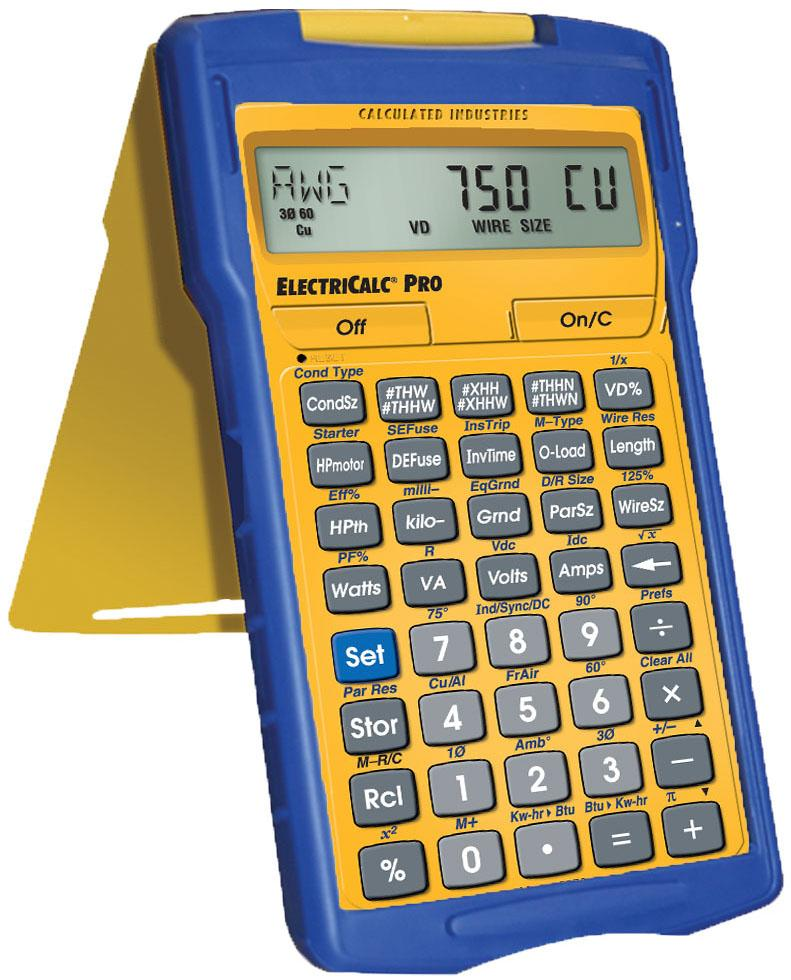 Amazon calculated industries 5070 electricalc pro electrical calculator estimator materials building calculator contractors math feet and inches feet inch fracti greentooth Images