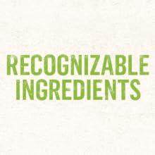 Recognizable ingredients