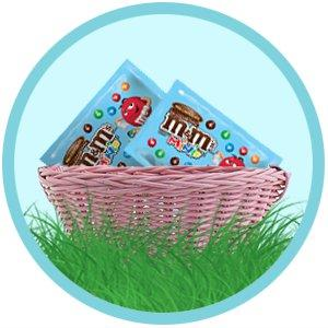 Add individually wrapped M&M'S MINIS Candy to party favors and Easter Baskets.