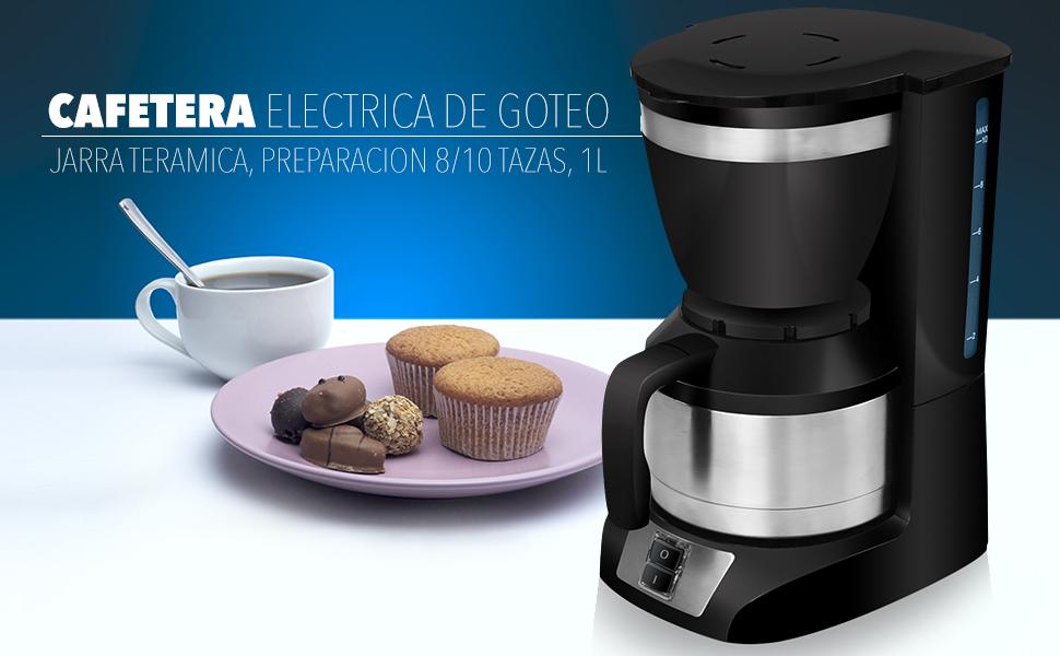 Sytech Cafetera eléctrica de Goteo con Jarra térmica, Acero ...