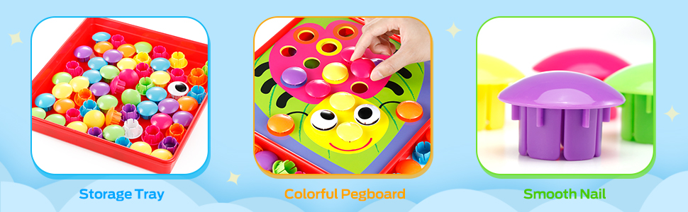 Button Art Toys for Toddlers