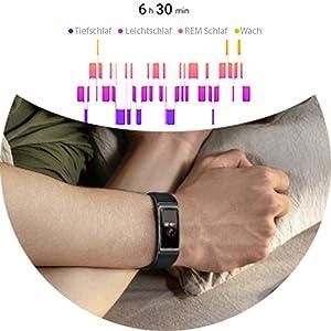 Schlafmesser messen überwachen Schlafphasen Tiefschlaf, Leichtschlaf, REM-Schlaf, Wach