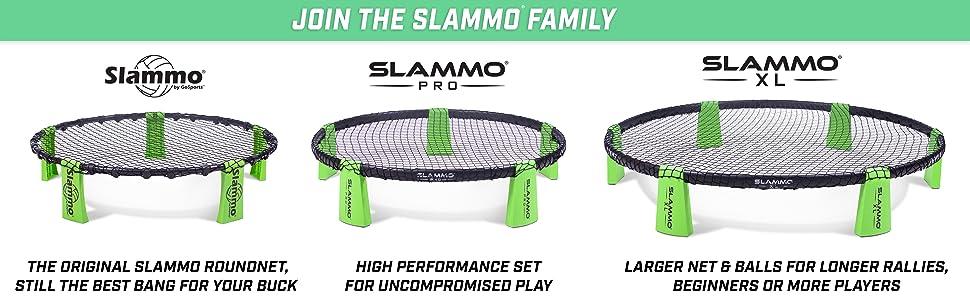gosports slammo roundnet net ball spike ball pro game set outdoor tournament volleyball players kids