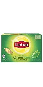 Lipton Green Tea Bags Natural 40 ct