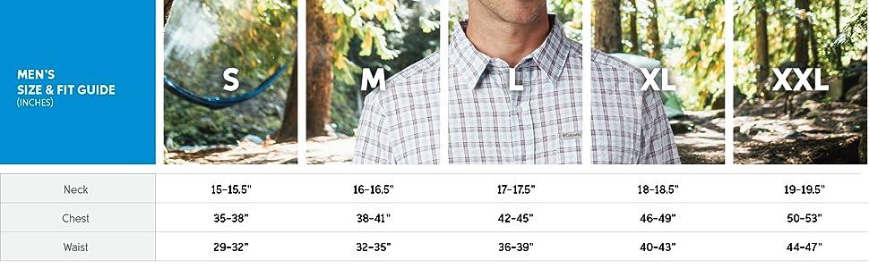 Men's short sleeve sizing