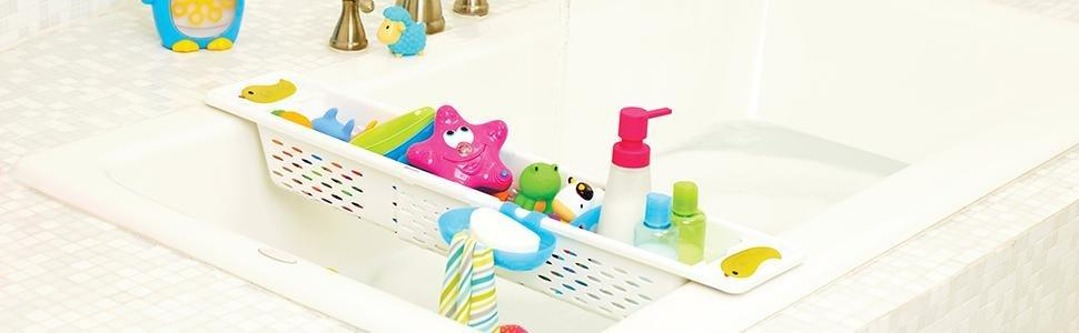 munchkin quack bath toy caddy baby. Black Bedroom Furniture Sets. Home Design Ideas