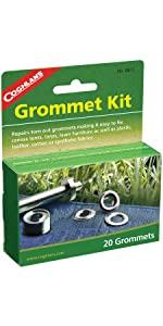 20 Pack 9.5mm Strong Tarp Repair Kit Camping Coghlans Nickel Plated Grommets