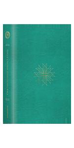 Single Column Journaling Bible, TruTone, Teal, Resplendent Cross Design