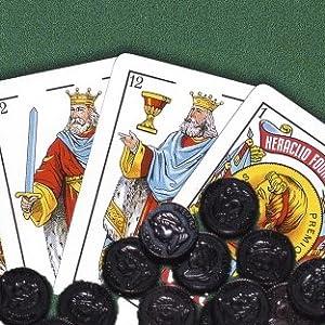 cartas, baraja, española, partida, fournier