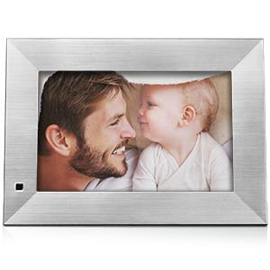 NIX Lux Digital Photo Frame 8 inch X08F, Wood. Electronic Photo Frame USB SD/SDHC. Digital Picture Frame with Motion Sensor. Control Remote and 8GB USB Stick Included 18