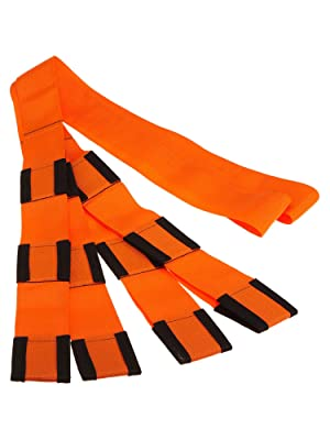 Forearm Forklift Lifting and Moving Straps, 2-Person, Orange