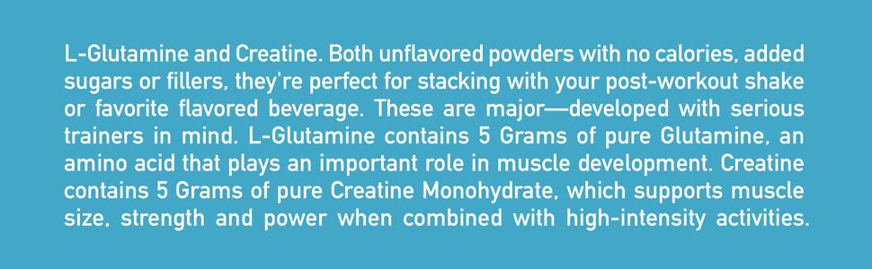 Isopure Creatine and Glutamine Facts