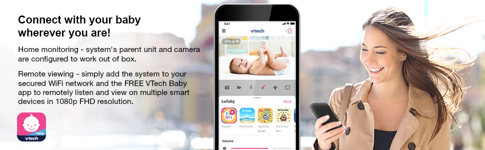 Baby Monitor VM901-1W connect with your baby wherever you are