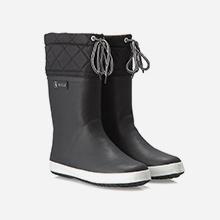 Giboulée bottes pluie enfant après-ski noir