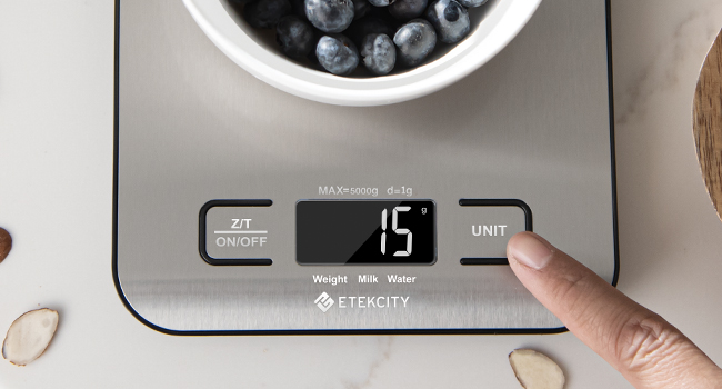 Not like touch button, you could Easily Tare and convert units by clicking the physical buttons.