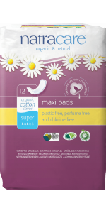 Natracare Super Maxi Pads organic cotton cover