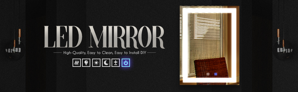 Rectangle LED Mirror
