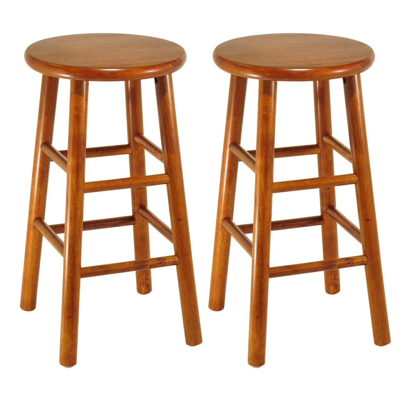 Winsome Wood Assembled 24 Inch Cherry Finish Kitchen Stools