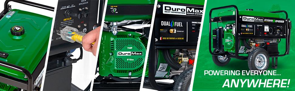 Duromax XP4850EH Dual Fuel Portable 4850 Watt Generator