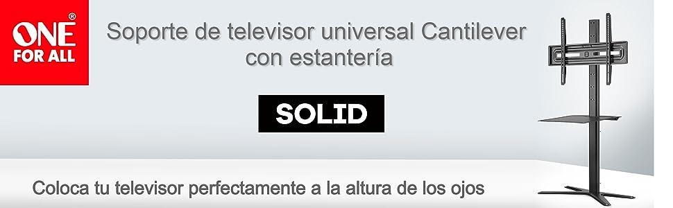 Soporte de TV Universal con estantería One For All - Tamaños de Pantalla de 32-70
