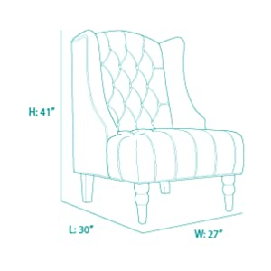 Surprising Belleze Tall Wingback Tufted Fabric Accent Chair Tufted High Back With Nail Head Beige Bralicious Painted Fabric Chair Ideas Braliciousco
