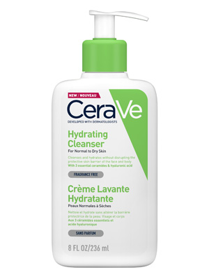 CeraVe; Hydrating; Cleanser; Hyaluronic Acid; Wash; Face; Body; Sensitive; Dry; Skin; Skincare