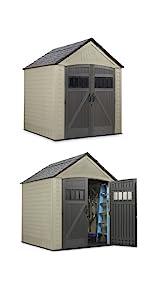 rubbernaid roughneck 7x7 storage shed