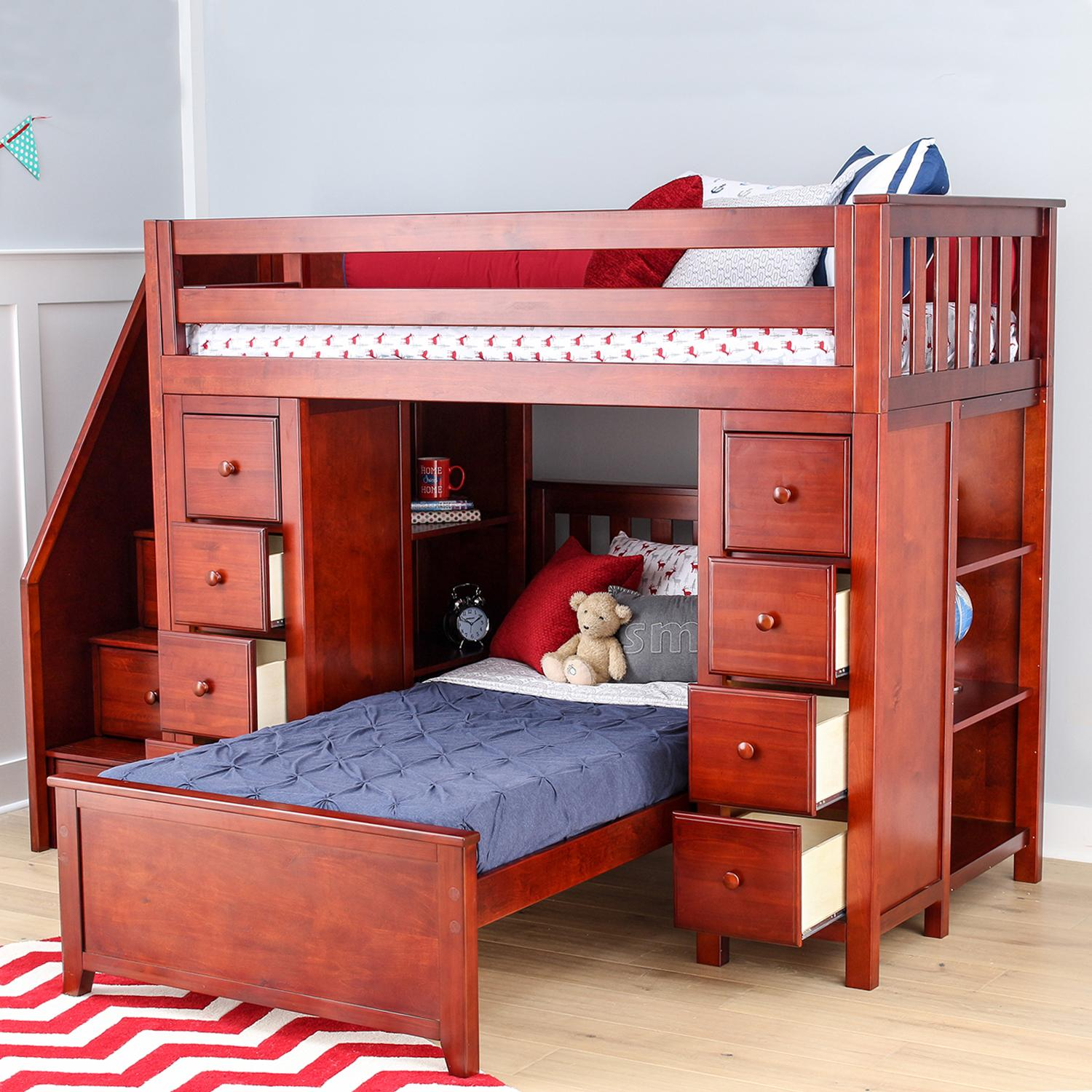 Jackpot deluxe all in one solid hardwood twin - All in one double bed ...