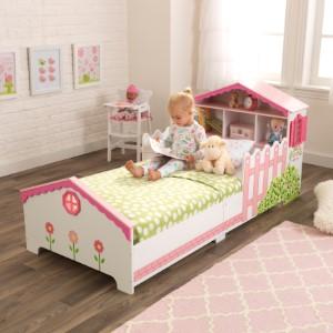 Kidkraft 76255 Dolls House Kids Toddler Children S Bed Bedroom Furniture Junior Wooden Bed Frame