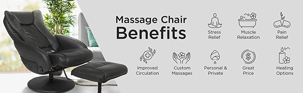 Best Choice Products Faux Leather Electric Massage Recliner Couch Chair w/ Stool Footrest Ottoman, Remote Control, 5 Heat & Massage Modes, Side ...