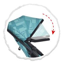 large sunhood on compact single stroller