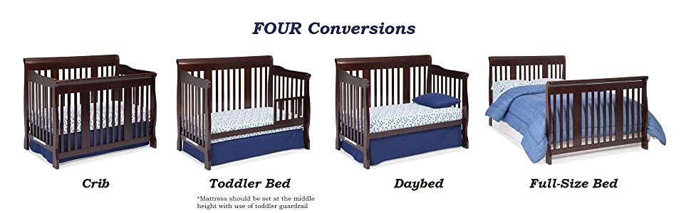 storkcraft tuscany 4 in 1 convertible crib. Black Bedroom Furniture Sets. Home Design Ideas