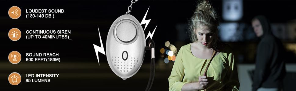 Amazon.com: KOSIN - Llavero con alarma personal de seguridad ...