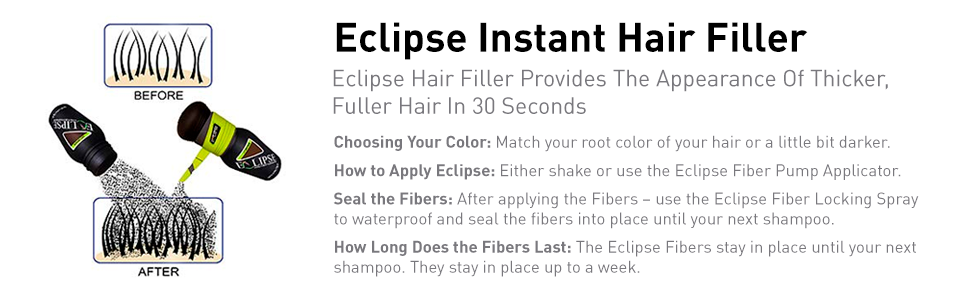 Eclipse Instant Hair Filler for Women & Men