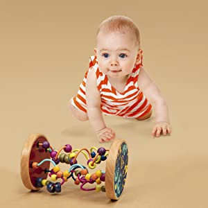 wooden bead maze, wire maze, wood, classic toys, beads, baby, toddlers, kids, play, educational