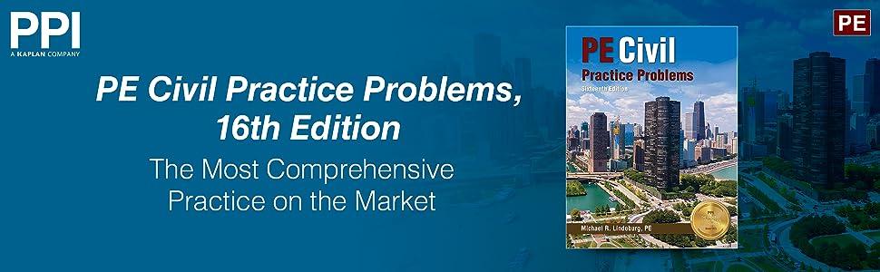 PE Civil Practice Problems, 16th Edition