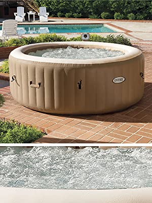 Intex 28474 Hinchable Burbujas con cobertor Full SPA, Beige, 4 ...