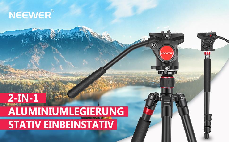 Neewer 2 In 1 Aluminium Kamerastativ Monopod 180cm Mit Kamera
