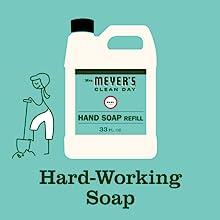 Mrs. Meyer's Basil Hand Soap Refill, Bulk
