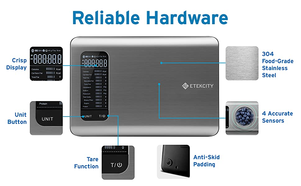 Etekcity has reliable hardware to give you an accurate result.