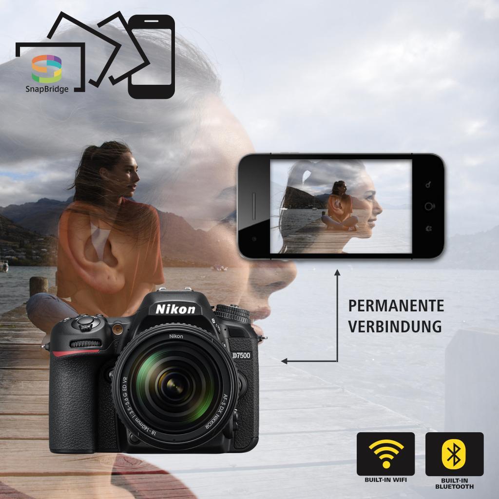Nikon D7500 mit diversen Kontrasteinstellungen