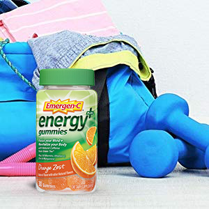 Emergen-C, EmergenC, Natural Caffeine, Energy Gummies, Vitamin C