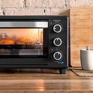 Cecotec Bake&Toast 550 Horno Sobremesa, Capacidad de 23 litros ...