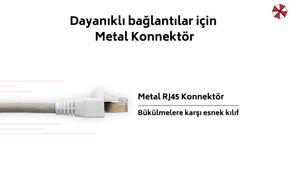 Dayanıklı bağlantılar için metal konnektör.