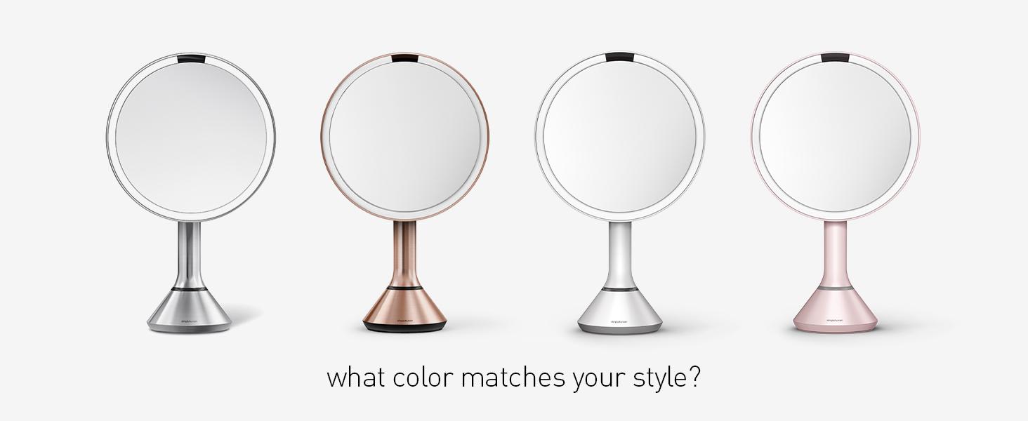 sensor mirror colors